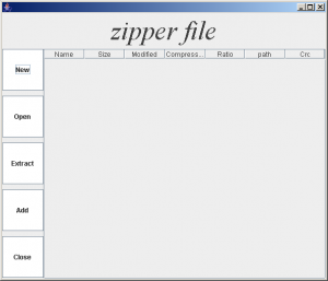 Opening screen of Zipper file and unzipped Utility