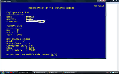 modification of employee details