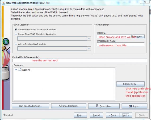 New web application wizard-war file