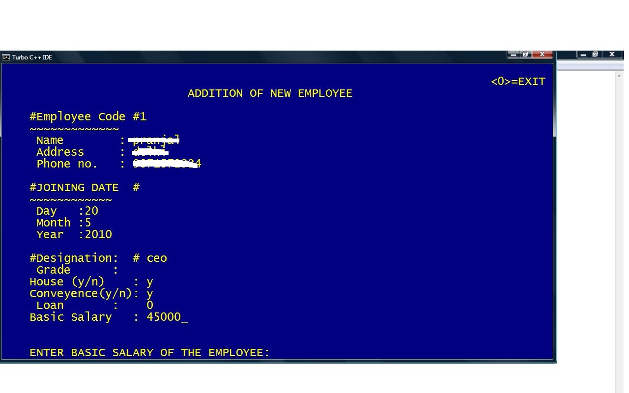 Computer Science C++ Project on Payroll Management System - Computer